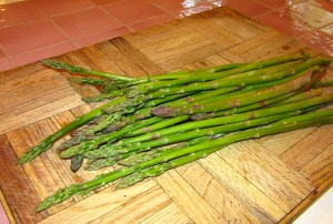 The Grill-Meister loves grilled asparagus so much that he grows it now. You'd never know he's a vegetable-hater.