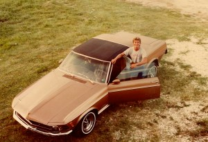Steve took dates out in his teen years in his super-cool car