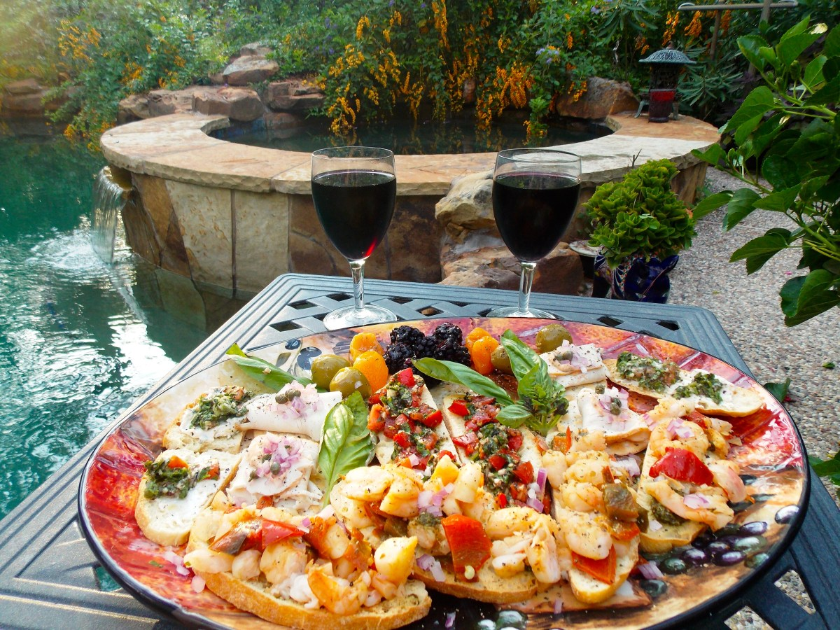 Smorgasbord for Two by the Pool