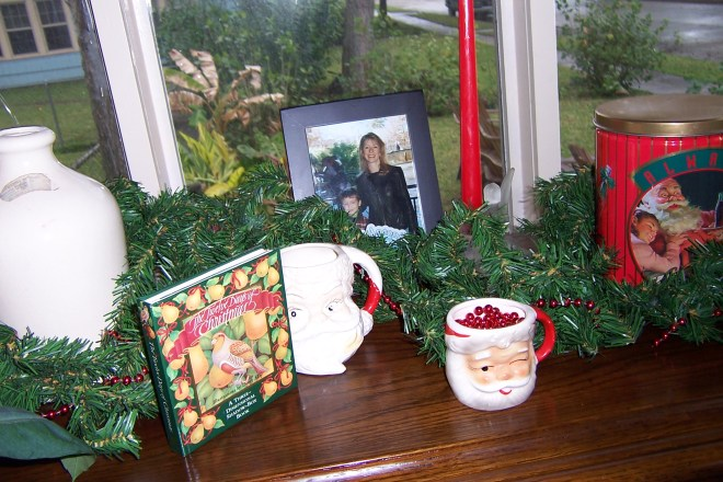 Almost every surface in the little cottage was bedecked with Christmas finery
