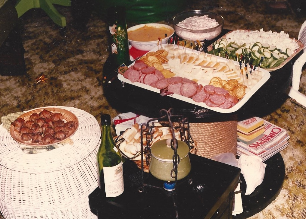 Christmas Eve feast at our beach house circa 1978-ish.