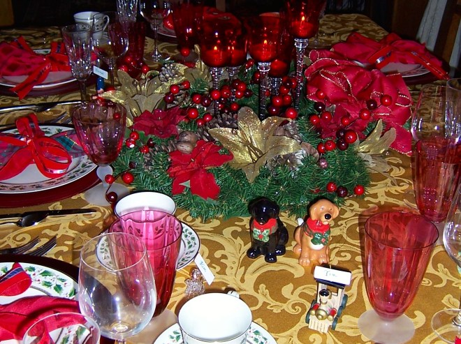 Setting a Beautiful Christmas Table2