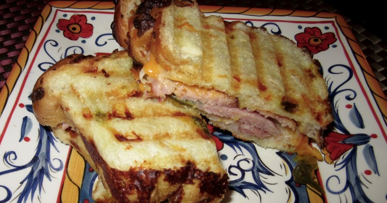 Hearty Ham & Sharp Cheddar Panini on Jalapeño-Cheese Bread