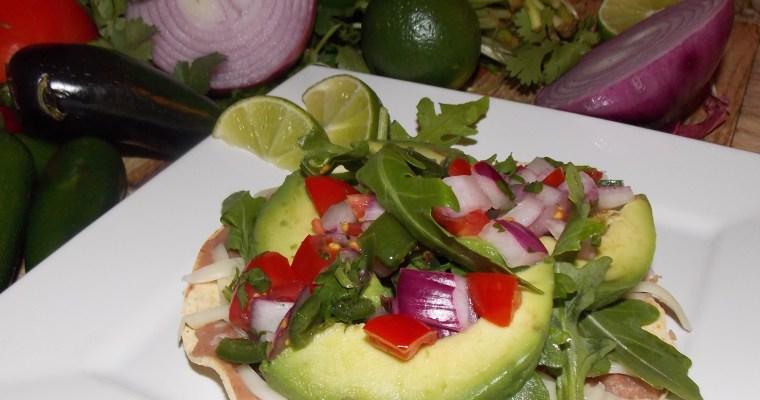 Avocado and Arugula Tostadas