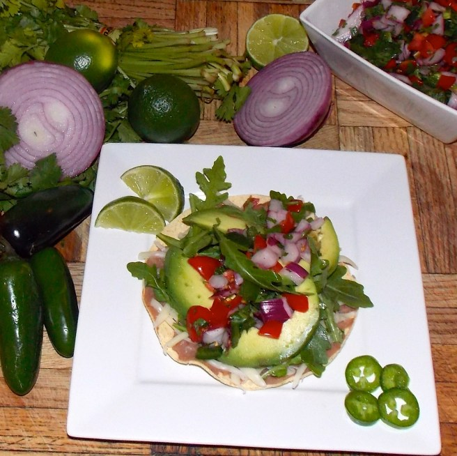 Avocado and Arugula Tostadas