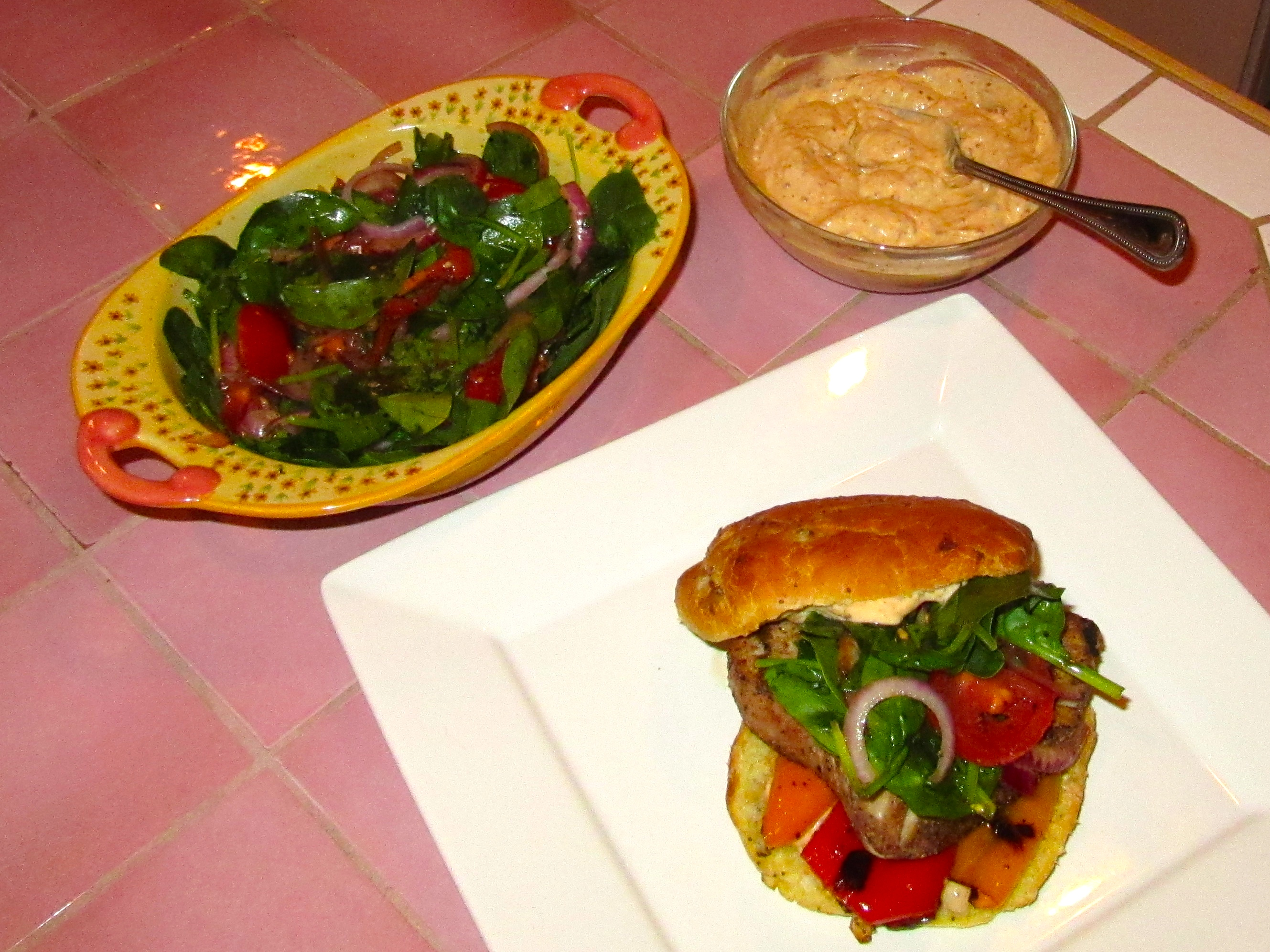 Grilled Tuna Burgers for Two