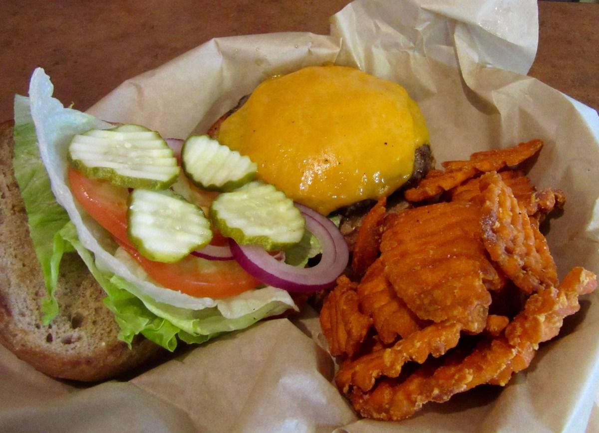Burger at Frey's Backyard