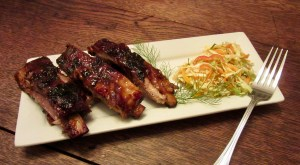 Honey-Chipotle Ribs with Chipotle-Fennel Slaw