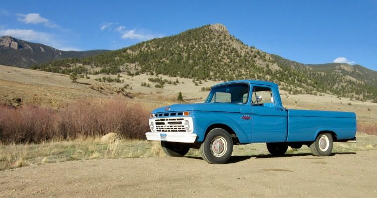 Haiku: Old Ford Truck at Colorado's Tarryall Reservoir