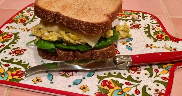 Home Alone Comfort Food:  Scrambled Egg Sandwich