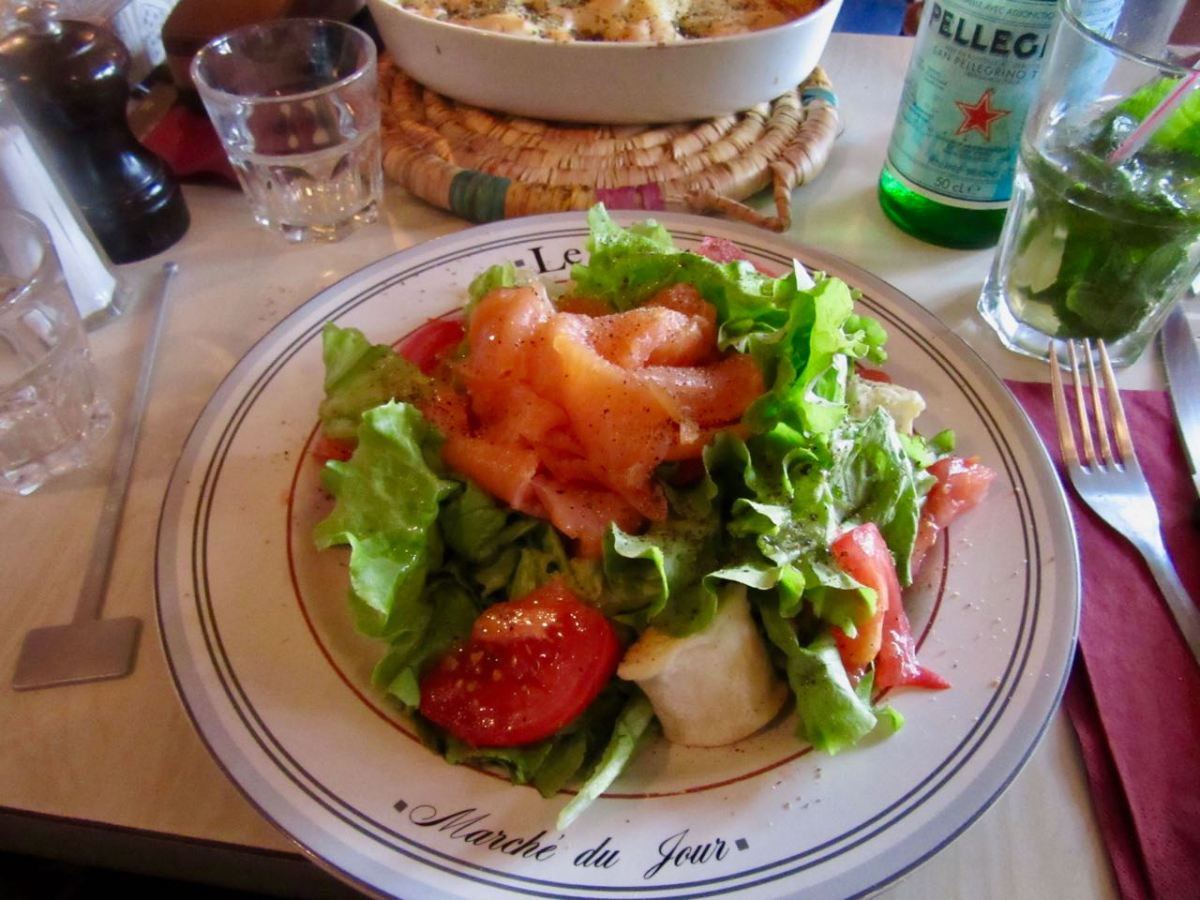 Bistro Des Augustins - Salmon and Goat Cheese Salad