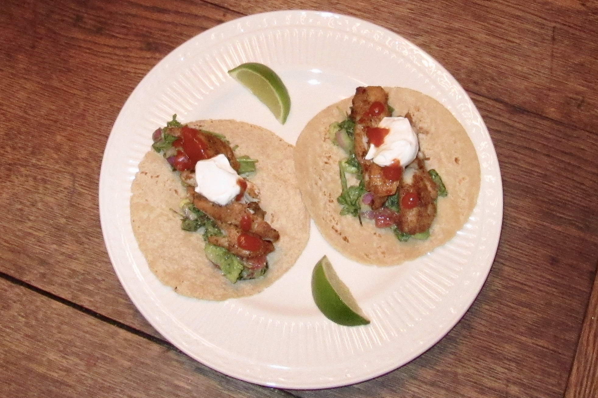 Trout Tacos with Avocado Shisito Salad