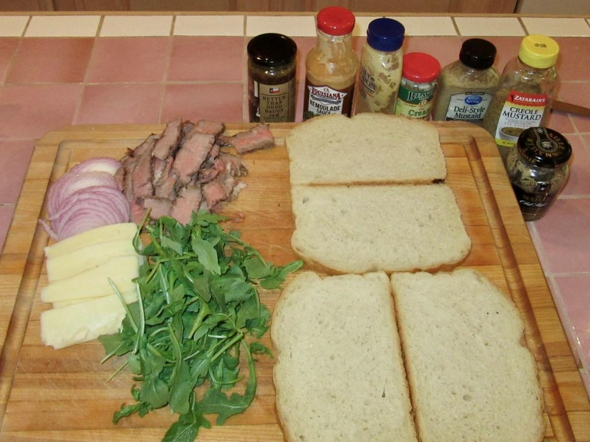 Steak and Fontina Panini Ingredients