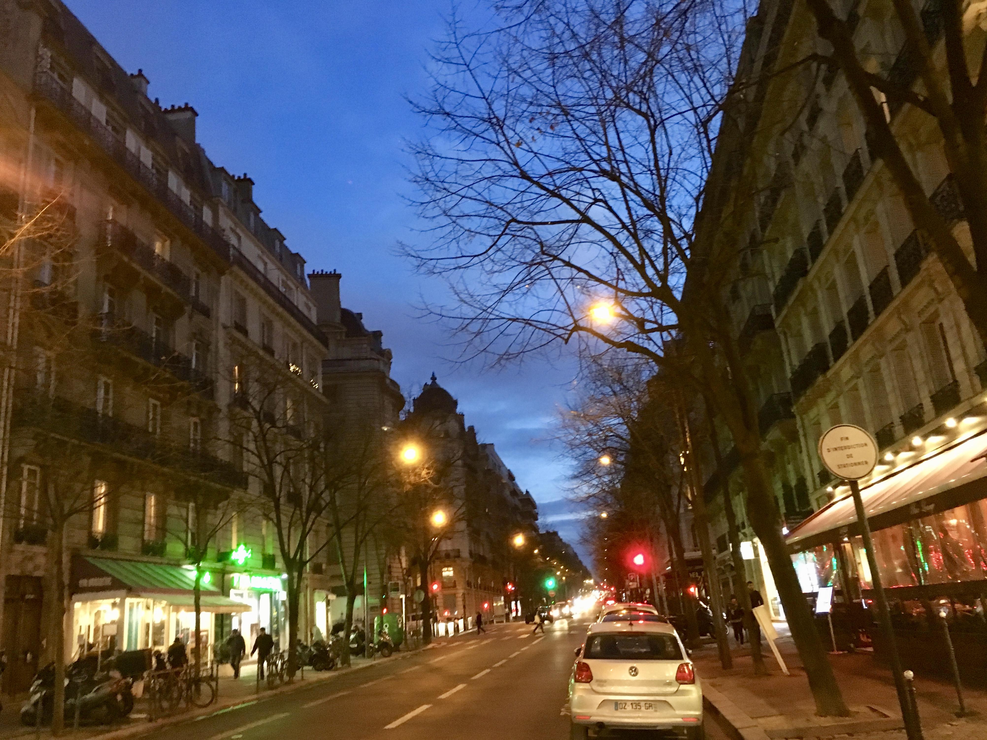 Haiku: Random Street in the City of Lights at Dusk