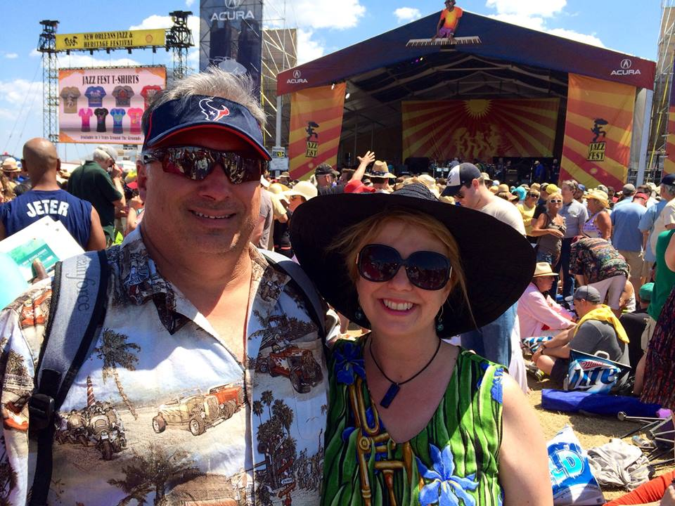 Tom and Kim at Jazz Fest