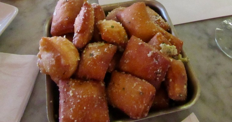 Discovery on Magazine Street: Garlic Beignets at The Vintage