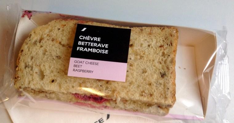 Still Not a Fan of Beets…Strange In-Flight Sandwich