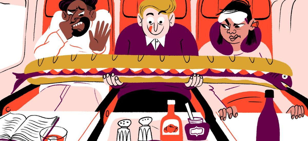 The completely correct guide to eating and drinking on a plane
