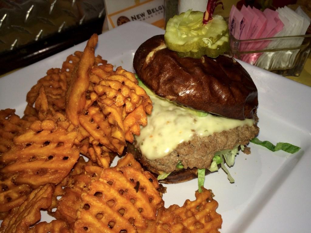 Turkey burger at the Rubi Slipper in Alamosa, NM
