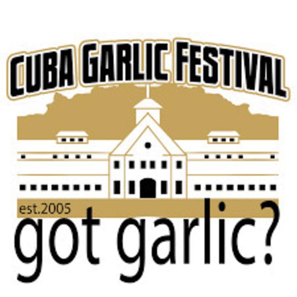"""Cuba NY garlic festival poster """"got garlic?"""""""