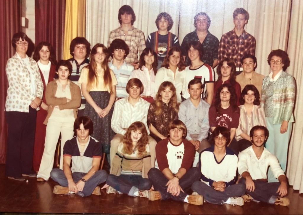 High Island High School seniors 1981