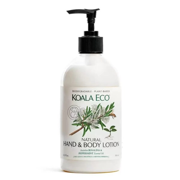 Koala Eco Natural Hand and Body Lotion Rosalina and Peppermint from Gloves and Sanitisers