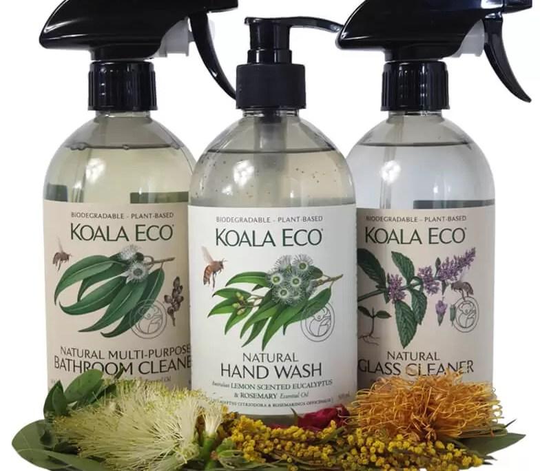 Koala Eco bathroom bliss selection hand wash bathroom cleaner and glass cleaner