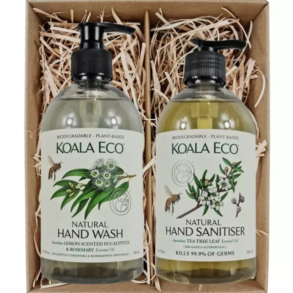Koala Eco Hand Wash and Hand Sanitiser Gift Box from Gloves and Sanitisers