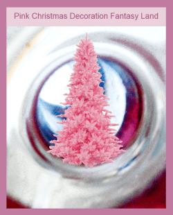 Pink Christmas tree ornaments
