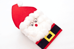 Make Your Own Three Dimensional Santa Clause Card