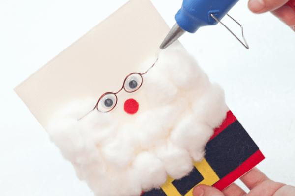 Three Dimensional Santa Card