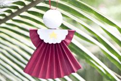How to make a hanging Christmas angel