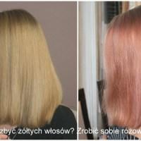 Jak się pozbyć żółtych włosów? - Zrobić sobie różowe włosy :)