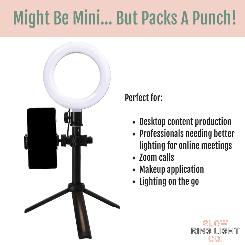 6 Inch LED Glow Ring Light/Selfie Light - Glow Ring Light Co. Australia - Free Shipping + AfterPay