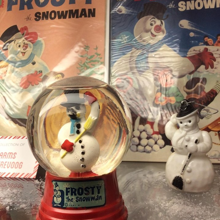 Frosty the Snowman Snow Globe, Plastic Figure, and Comic Books