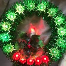 lighted wreath tree topper