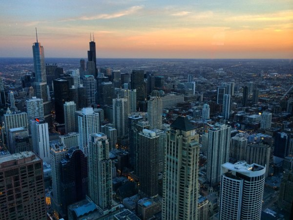 Chicago view from observation deck