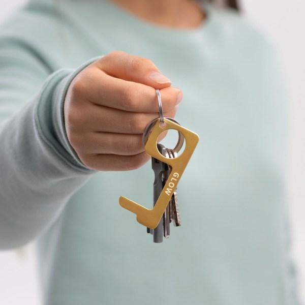 glow touch free tool keychain