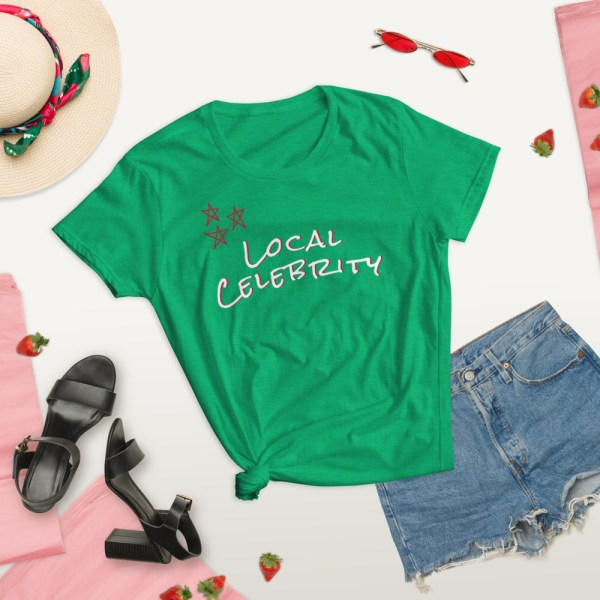 green summer lifestyle lifestyle local celebrity short sleeve women's cotton t-shirt classic fit tee