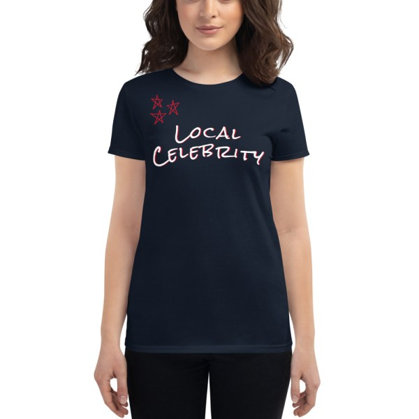 womens fashion fit t shirt navy front