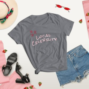 storm grey summer lifestyle local celebrity short sleeve women's cotton t-shirt classic fit tee
