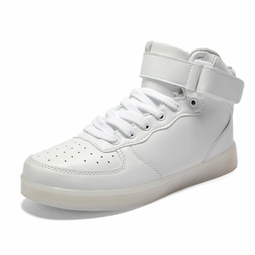 Astro White High Top LED Shoes