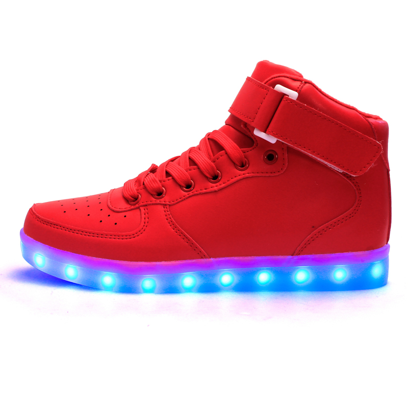 Astro Red – High Top LED Shoes  bf069b198