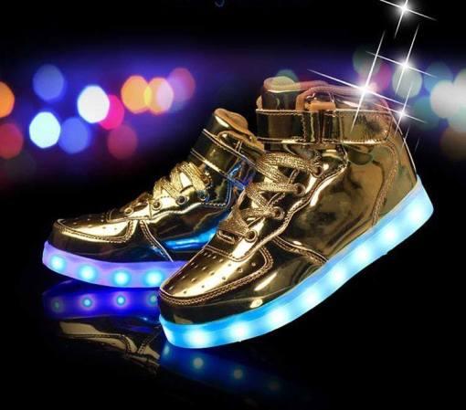 750 Gold High Top LED Glow Tog kicks