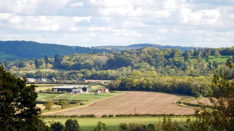 View from Dinedor Camp over Holme Lacy
