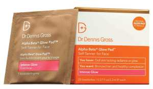 Dr. Dennis Gross Alpha Beta Glow Pad Intense Glow for Dull Skin Lacking Radiance and Glow, best self tanner for face drugstore, best drugstore face tanner