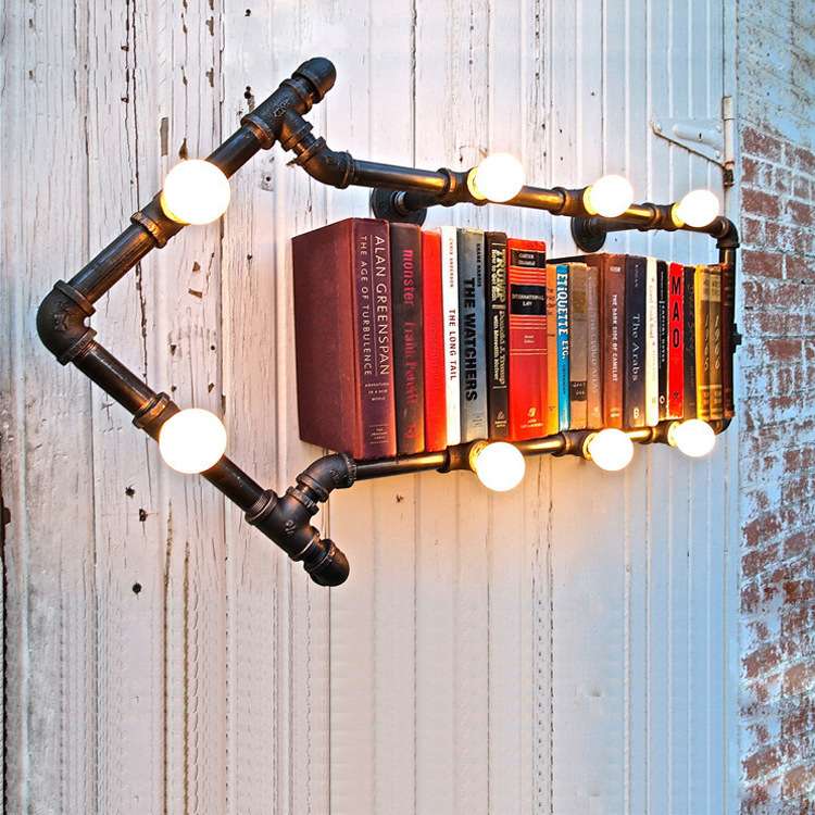 Industrial-wind-pipe-wall-lamp-wall-lamp-retro-nostalgia-Iron-Loft-living-room-font-b-bookshelf