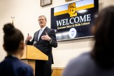 Gov. Charlie Baker praised Greater Lawrence Tech's programming for both high school and adult students on Thursday, Jan. 23. (Courtesy Photo Greater Lawrence Tech)
