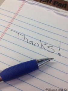 Danke an die Menschen