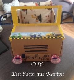 Auto-aus-Karton-DIY-Kinder